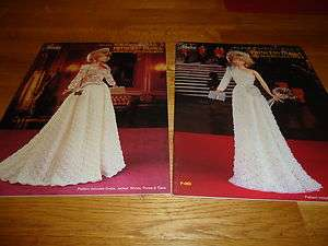 Princess Diana Crochet Fashion Pattern Books 1988 Royal Dress 1985