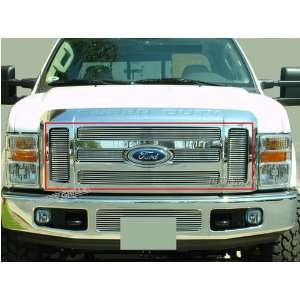 08 Ford F250 F350 6PC Upper Billet Grille (Logo Show): Automotive