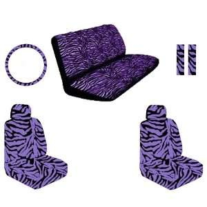 Purple Zebra Tiger Animal Print Front Car Truck SUV Low Back Bucket