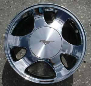 REMANUFACTURED 15X7 CHROME OEM ALLOY WHEEL FOR 1999 2001 FORD MUSTANG