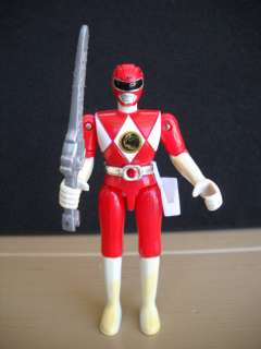 1993 BANDAI RED POWER RANGER W/ SWORD ACTION FIGURE