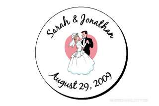 432 Personalized Wedding Kiss Favor Round Labels