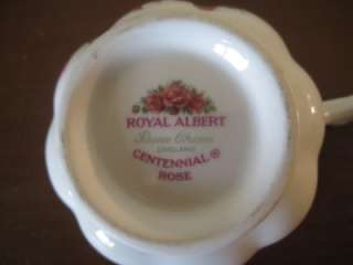 ROYAL ALBERT BONE CHINA TEACUP & SAUCER CENTENIAL ROSE