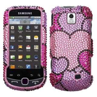 Bubble Heart Bling Case Cover fr Samsung Intercept M910