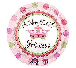 piece A New Little Princess Baby Its A Girl Balloons Pink Shower