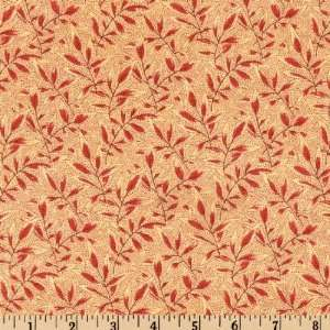 44 Wide Cumberland Westbury Red/Natural Fabric By The