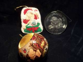 Set of 3 Vintage 1980s Ziggy Christmas Tree Ornaments