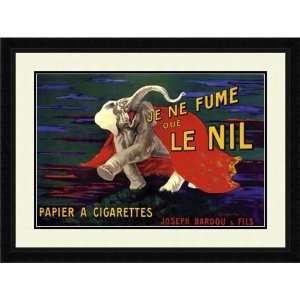 Cappiello Framed Art Je Ne Fume Que Le Nil Vintage