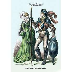 on 20 x 30 stock. German Costume: Noble Woman and German Knight II