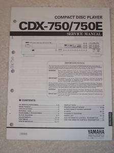 Yamaha Service Manual~CDX 750/750E CD Disc Player