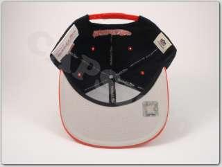 Cincinnati Bengals Adjustable Snapback Hat Mitchell and Ness Cap Black