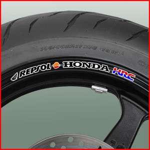 Honda Repsol Wheel Rim Stickers   fireblade cbr vtr vfr