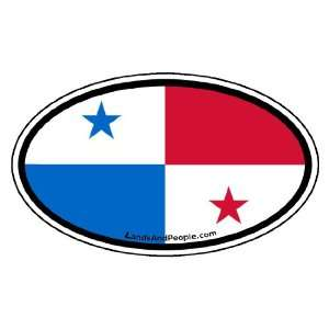 Panama Flag Car Bumper Sticker Decal Oval