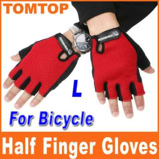 Fashion Man Woman Youth Bike Bicycle Cycling Half Finger Gloves L