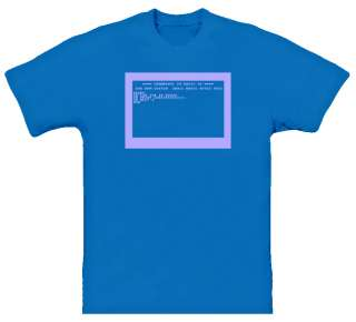 Commodore 64 RETRO computer NEW Royal Blue T Shirt