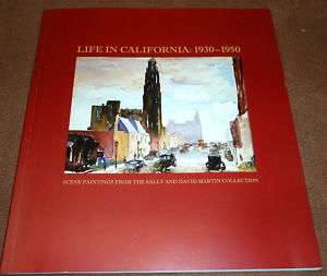 art LIFE IN CALIFORNIA 1930 david martin SCENE PAINTING