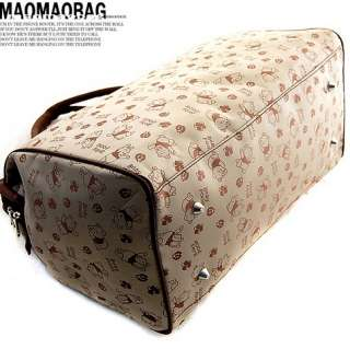 Women Cartoon Bear Shoulder Travel Bags Totes Large yb