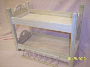 UNFINISHED BUNK BED, FITS AMERICAN GIRL FURNITURE