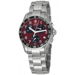 Victorinox Swiss Army Mens 241148 Chrono Classic Red Dial Watch