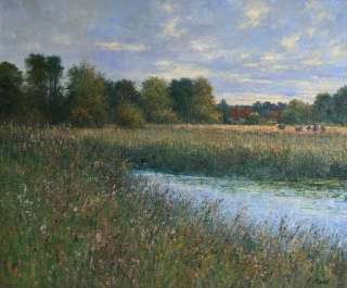 CHARLES NEAL b1951 BRITISH IMPRESSIONIST OIL PAINTING LISTED ART