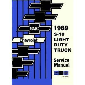 1989 CHEVY GMC S 10 S 15 BLAZER PICKUP Service Manual