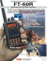 Yaesu FT 60R Dual Band VHF / UHF Portable Radio 144 / 430Mhz 5W New