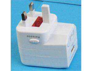 Universal World Travel AC Adapter USB Power Port #8507