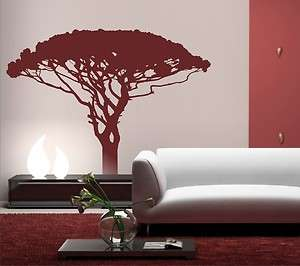 African Large Tree Vinyl wall art wall Stickers Mural