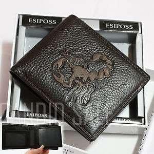 SCORPION MENS Genuine Leather BIFOLD WALLET Card PURSE