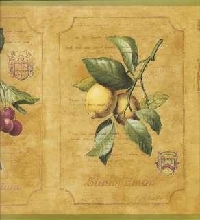 Plum, Cherries, Peach & Lemons Wallpaper Border