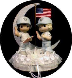 Groom Soldier PRECIOUS MOMENT figurine Wedding Cake Topper