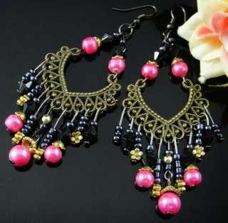 .74Width1.57 Acrylic Beads Dangle Earrings Jewelry A1216