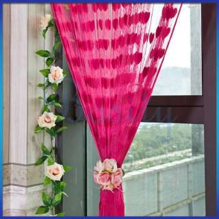 Hearts Tassel Room Door Window String Curtain Divider Romantic Decor