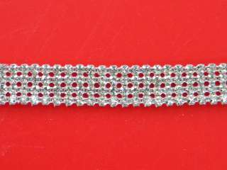 Rhinestone Banding Crystal Silver ~Wedding Cake Decoration~11/16~WM