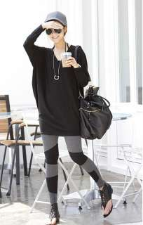 Casual Womens Loose Long T shirt Blouse Mini Dress Gray