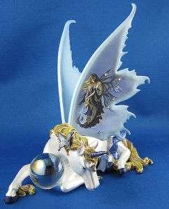 Serenity Unicorn Figurine with Fairy art of Nene Thomas