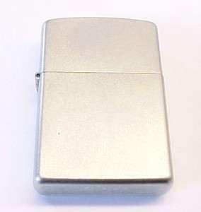 NEW Vintage ZIPPO Brushed Finish Chrome Lighter w/ Box