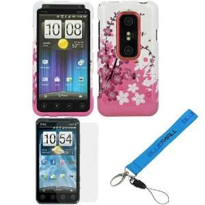 Custom Fit For HTC EVO 3D (Spring Flowers) + Clear LCD Screen