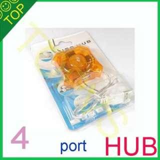 High Speed 1 to 4 Port usb2.0 Hub PC LAPTOP MAC cute gift 01B