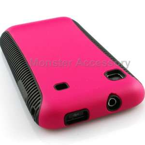 Pink Softgrip Hard Case Cover For Samsung Galaxy S 4G