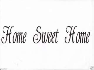 Vinyl Wall Decal Decor   Home Sweet Home
