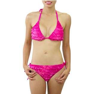 Sabree Tie Dye String Halter Bikini Pink