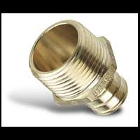 Pex 3/4 Tube to 3/4 Threaded Male NPT Adapter (25)
