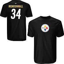 Reebok Pittsburgh Steelers Rashard Mendenhall Name & Number T Shirt