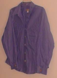 Womens Top Blouse Shirt Slate Blue Coldwater Creek PL