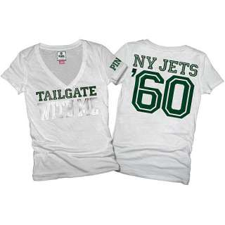 Victorias Secret PINK® New York Jets Womens Basic V Neck T Shirt