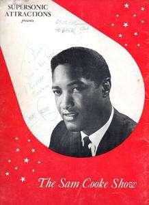 SAM COOKE 1962 US Tour Concert Program AUTOGRAPH Dionne Warwick