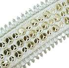 sequin lace spangle Ribbon costume trim WHITE 15 FT