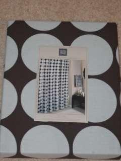 Brown Light Blue Polkadot POLKA DOTS Shower Curtain NEW
