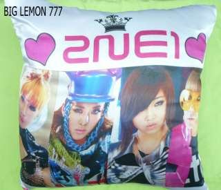 2NE1 Photo Cushion Pillow Cover Pillowcase Satin Q1